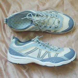 L.L. Bean mesh white & blue sneakers size 8.5
